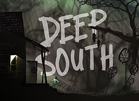 Title page for video game Deep South