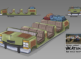 National Lampoons Vacation ride vehicle